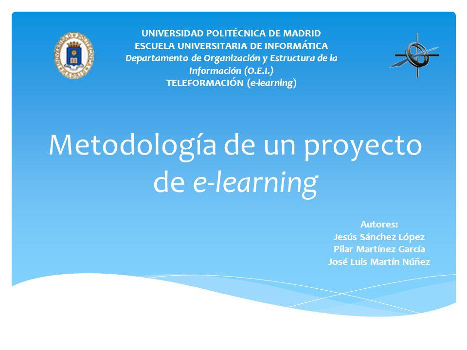Metodología de un proyecto de e-learning