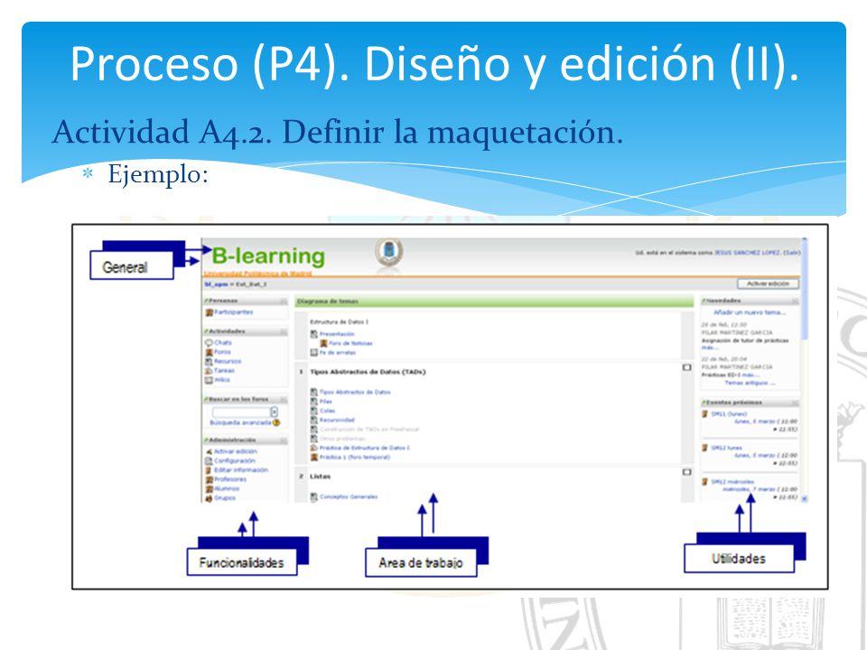 Proceso (P4). Diseño y edición (II).
