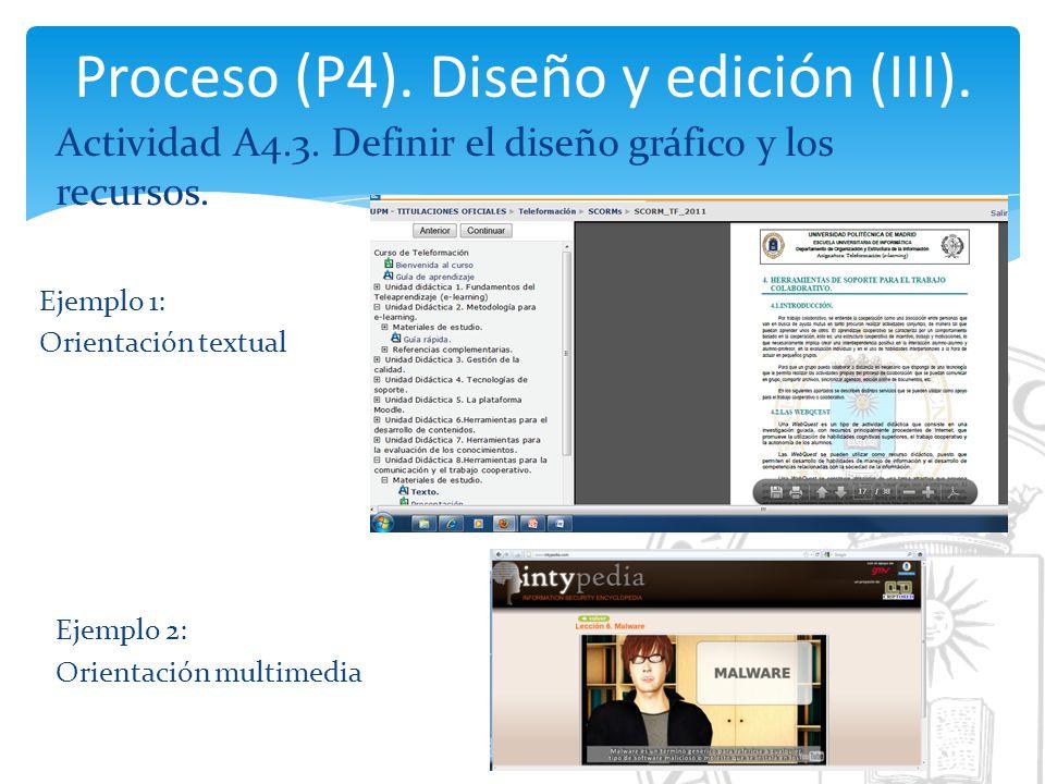 Proceso (P4). Diseño y edición (III).
