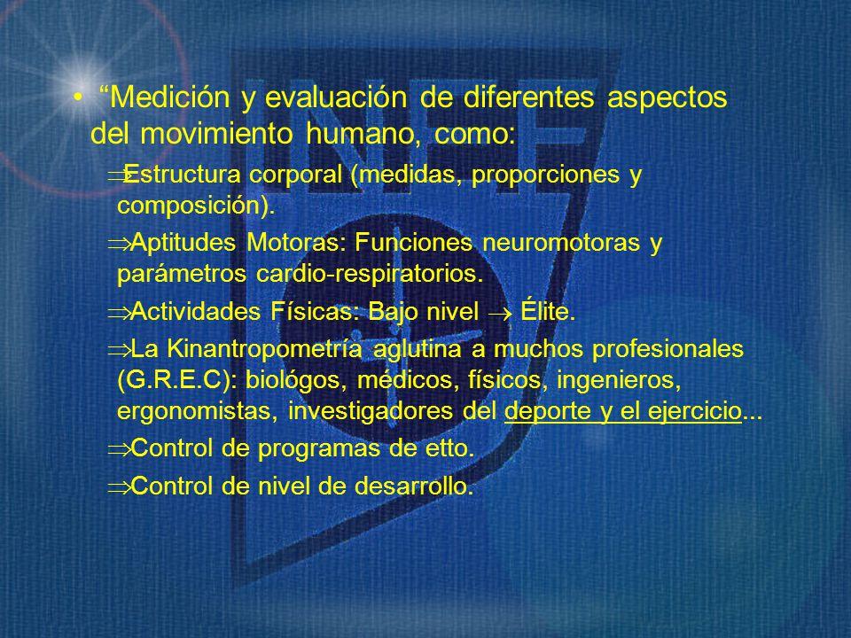 Medición y evaluación de diferentes aspectos del movimiento humano, como: