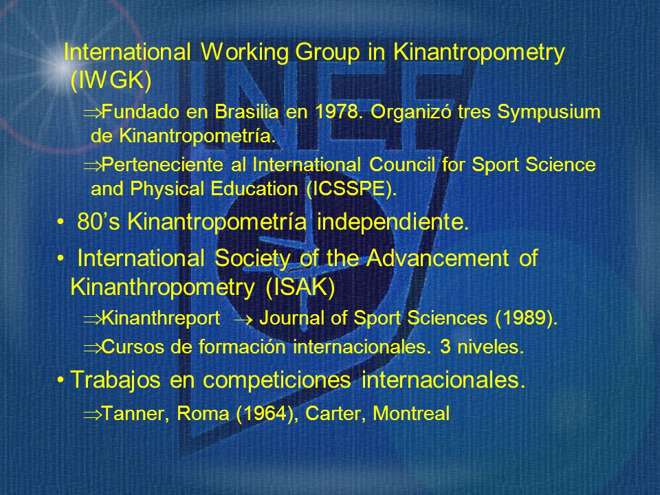 International Working Group in Kinantropometry (IWGK)