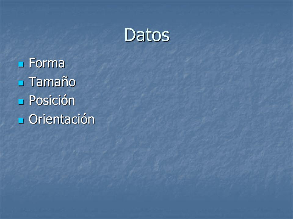 Datos Forma Tamaño Posición Orientación