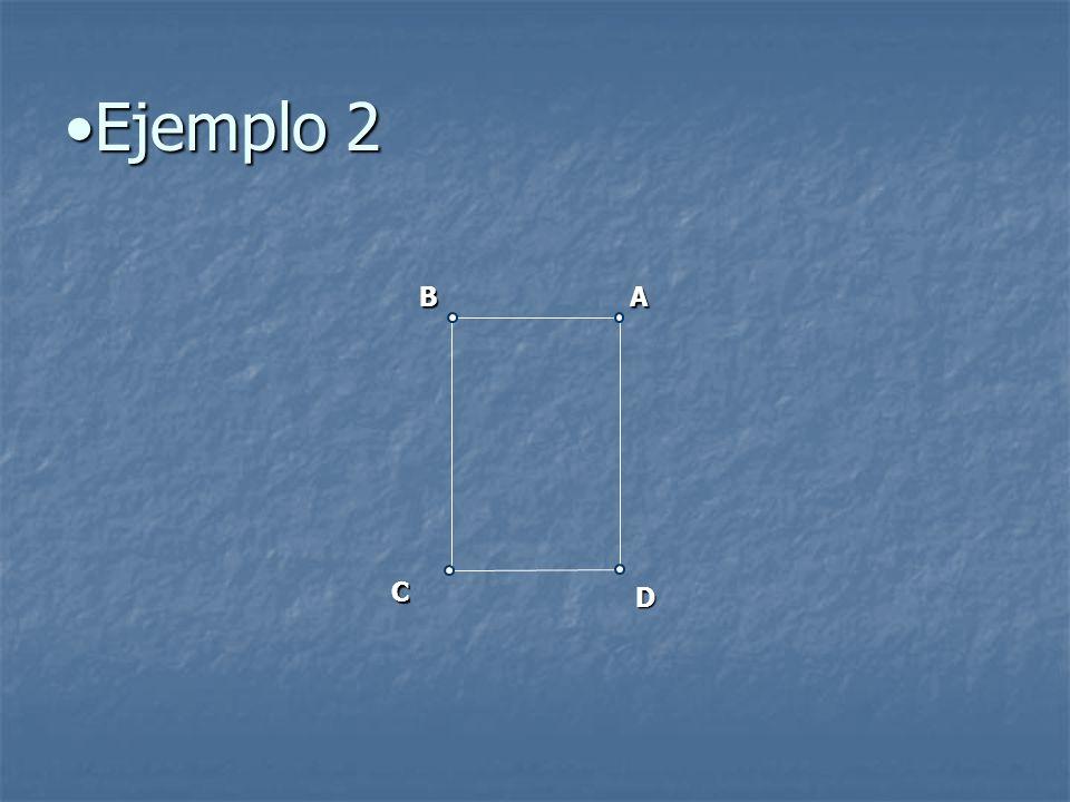 Ejemplo 2 B A C D