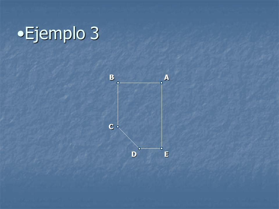Ejemplo 3 B A C D E