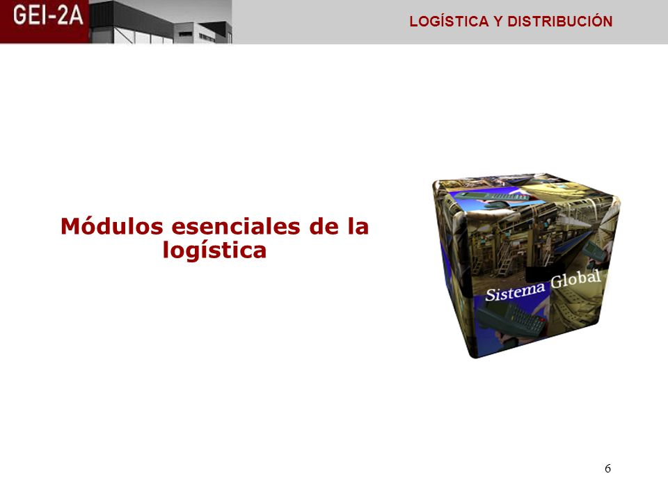 Módulos esenciales de la logística