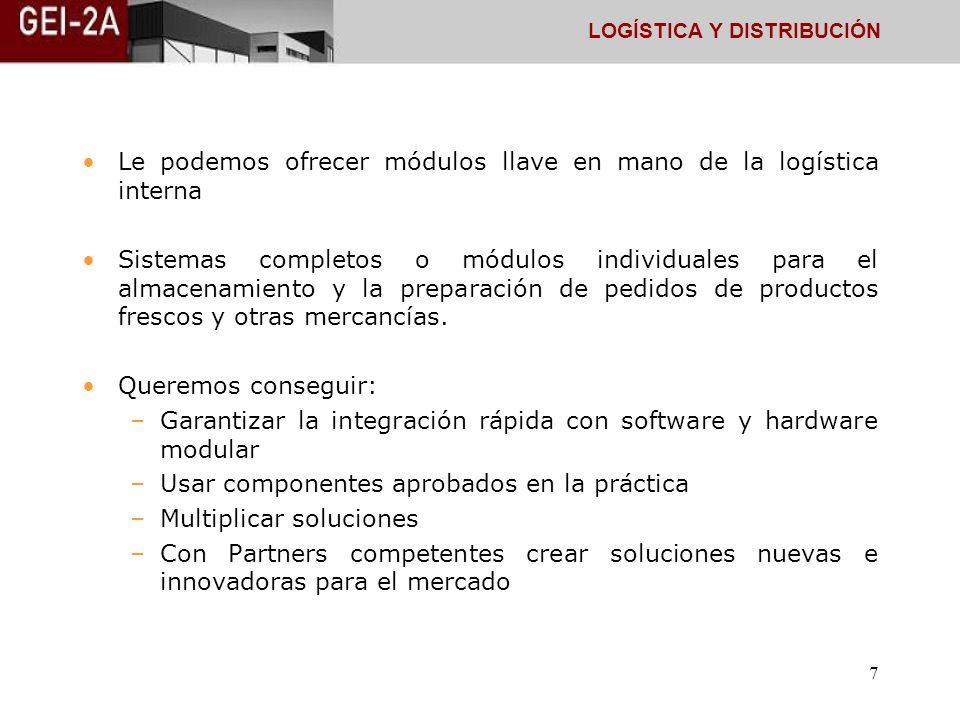 Le podemos ofrecer módulos llave en mano de la logística interna