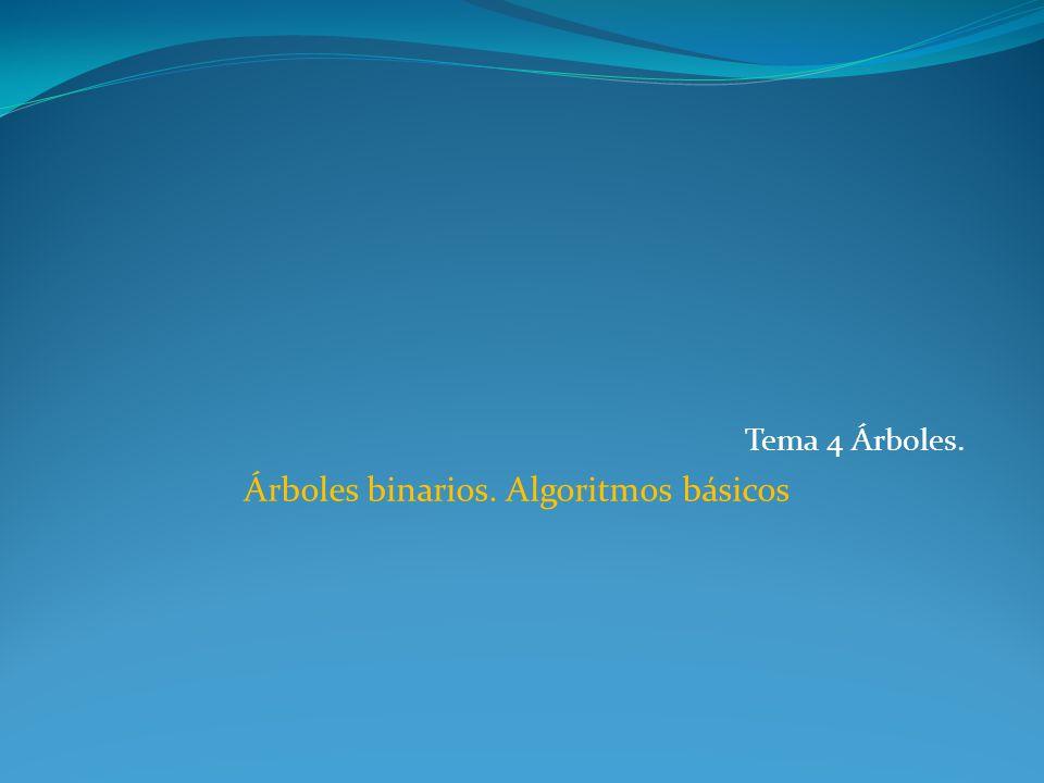 Árboles binarios. Algoritmos básicos