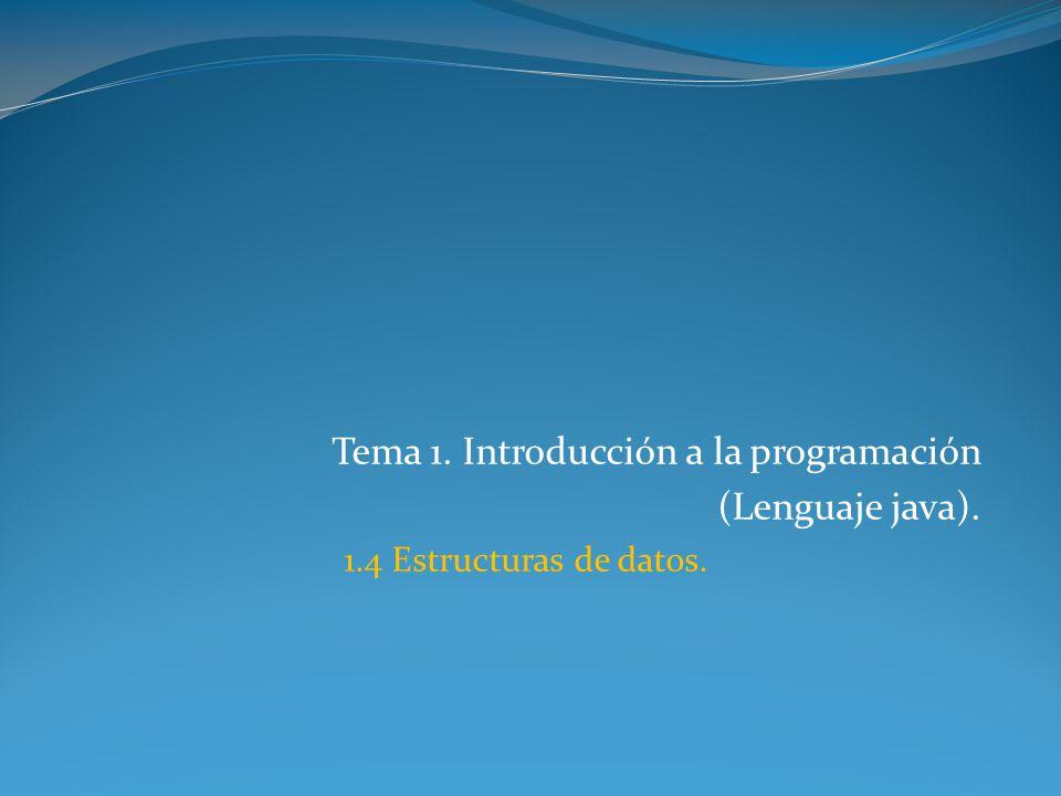 Tema 1. Introducción a la programación (Lenguaje java).