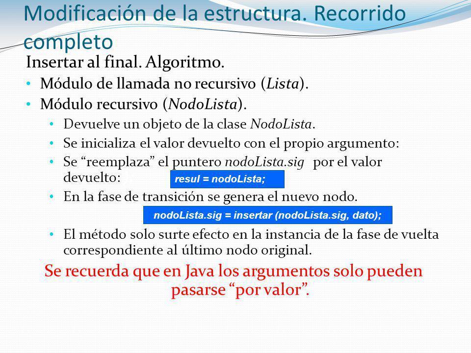 nodoLista.sig = insertar (nodoLista.sig, dato);