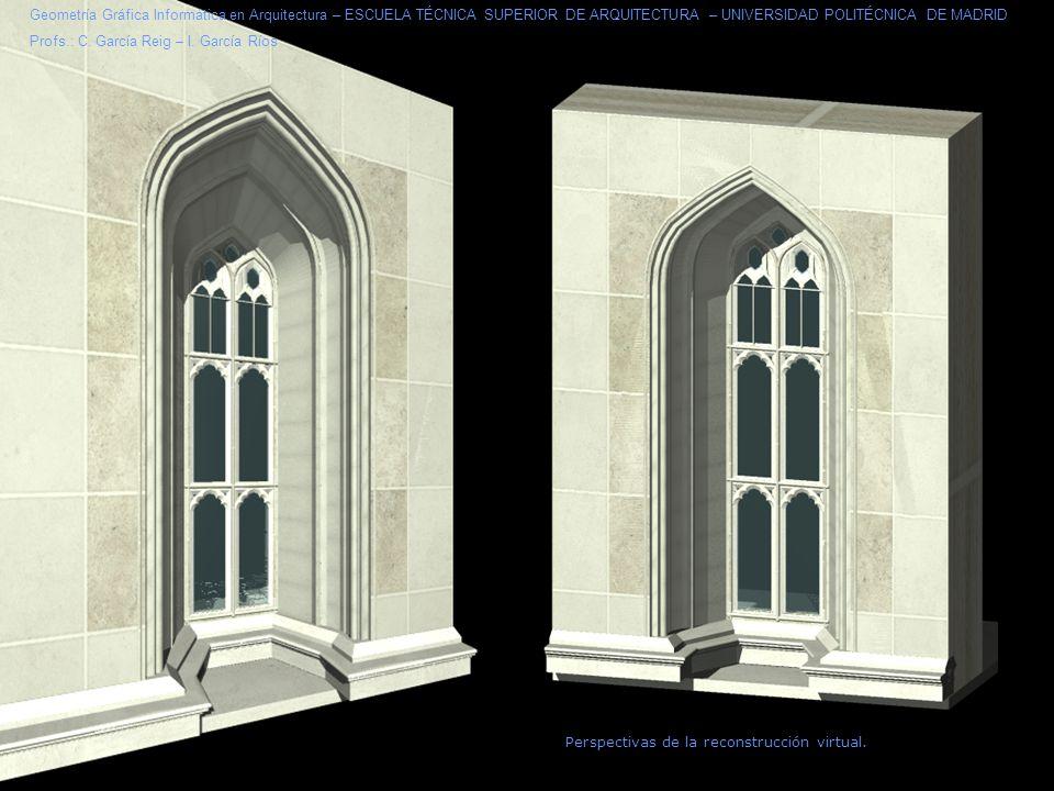 Geometría Gráfica Informática en Arquitectura – ESCUELA TÉCNICA SUPERIOR DE ARQUITECTURA – UNIVERSIDAD POLITÉCNICA DE MADRID
