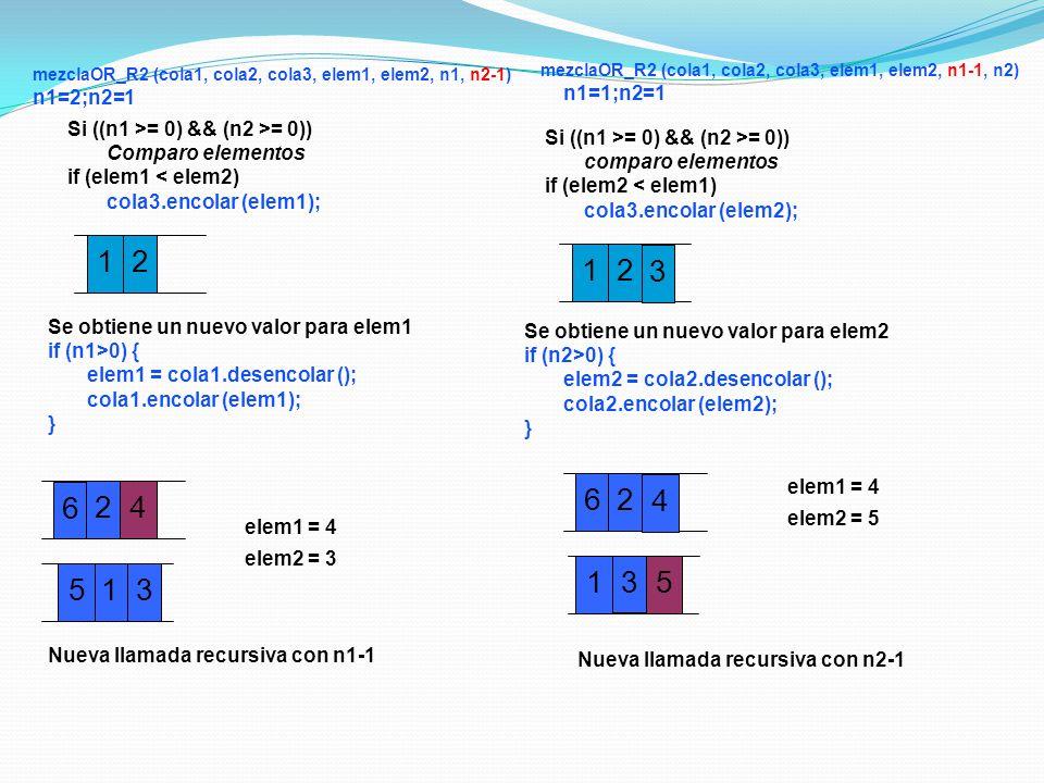 mezclaOR_R2 (cola1, cola2, cola3, elem1, elem2, n1, n2-1)