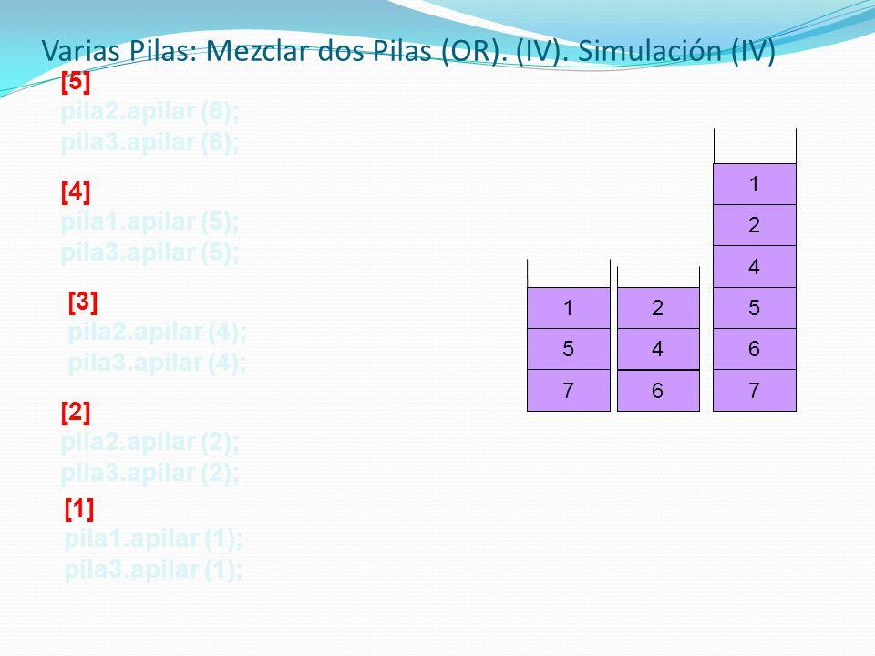 Varias Pilas: Mezclar dos Pilas (OR). (IV). Simulación (IV)