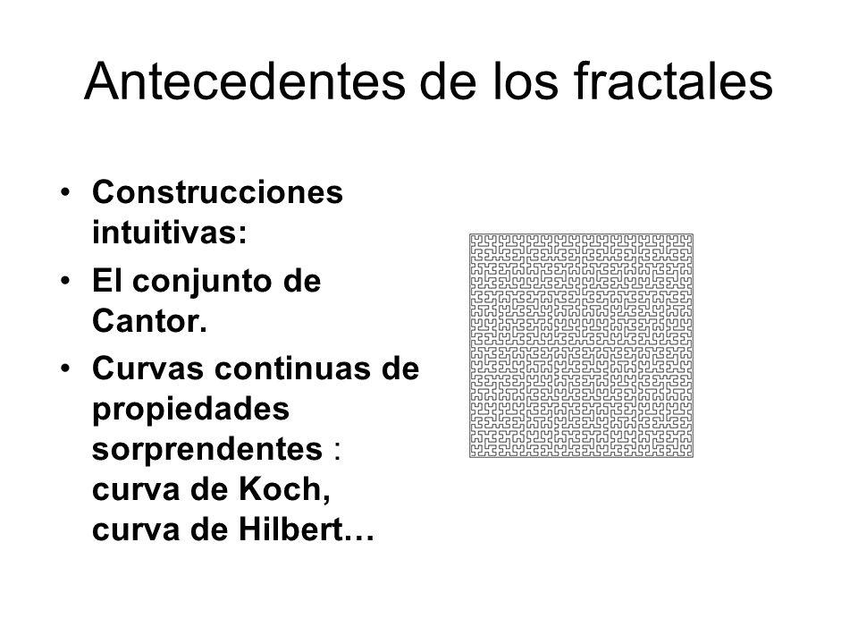 Antecedentes de los fractales