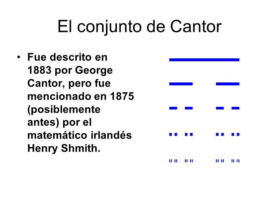 El conjunto de Cantor