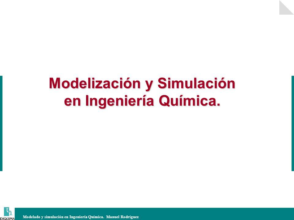 Modelización y Simulación en Ingeniería Química.