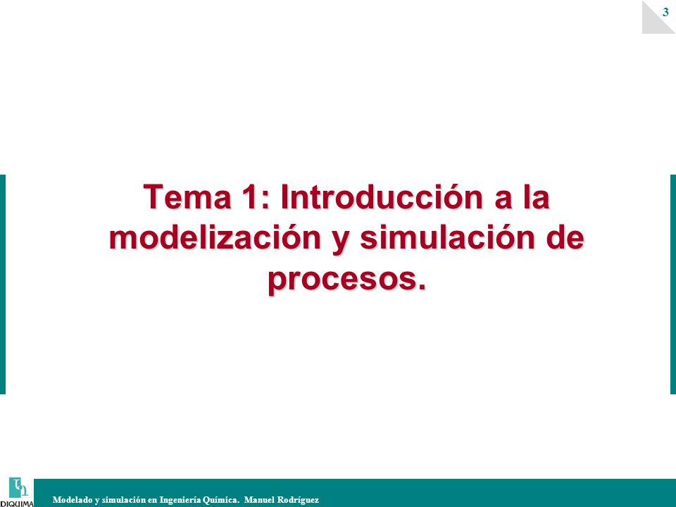 Tema 1: Introducción a la modelización y simulación de procesos.