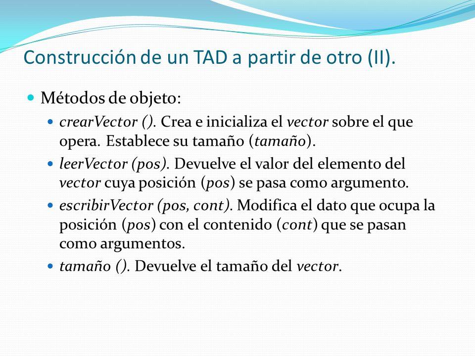 Construcción de un TAD a partir de otro (II).