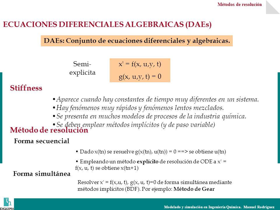 ECUACIONES DIFERENCIALES ALGEBRAICAS (DAEs)