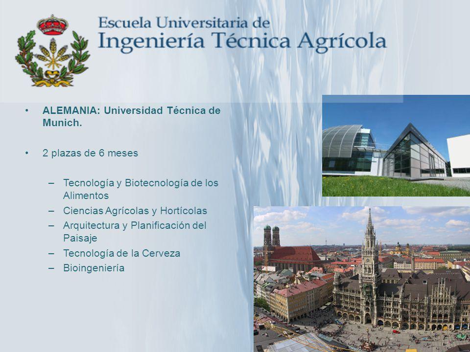 ALEMANIA: Universidad Técnica de Munich.