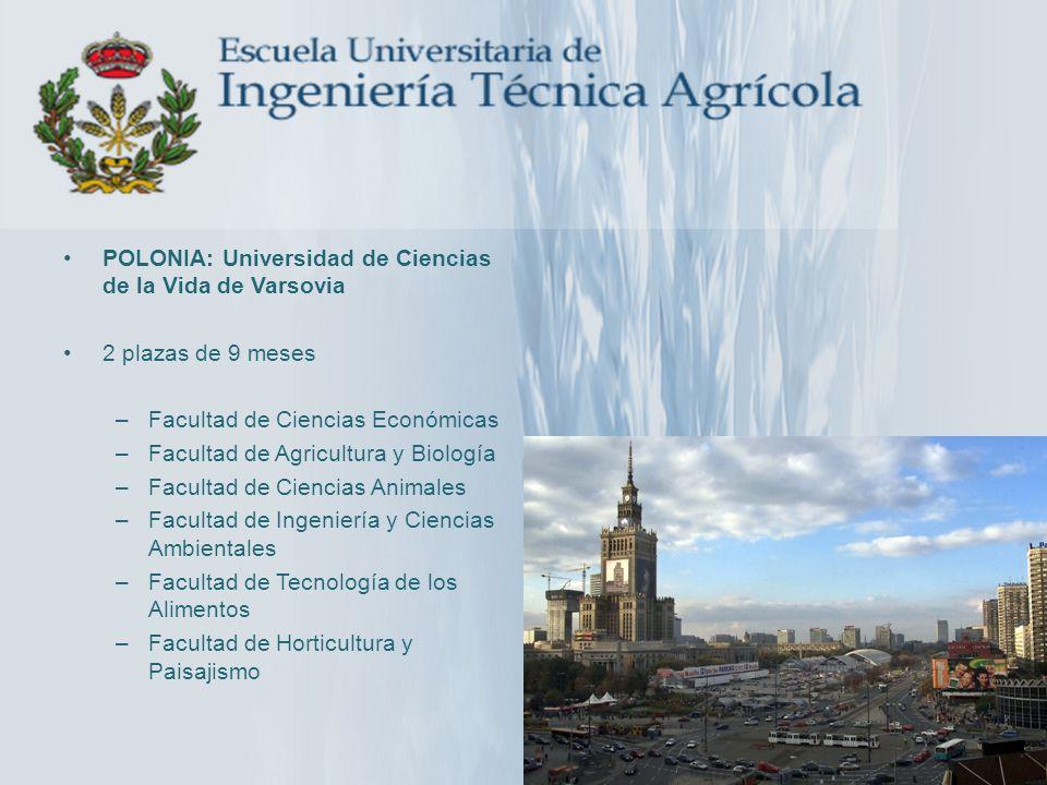 POLONIA: Universidad de Ciencias de la Vida de Varsovia