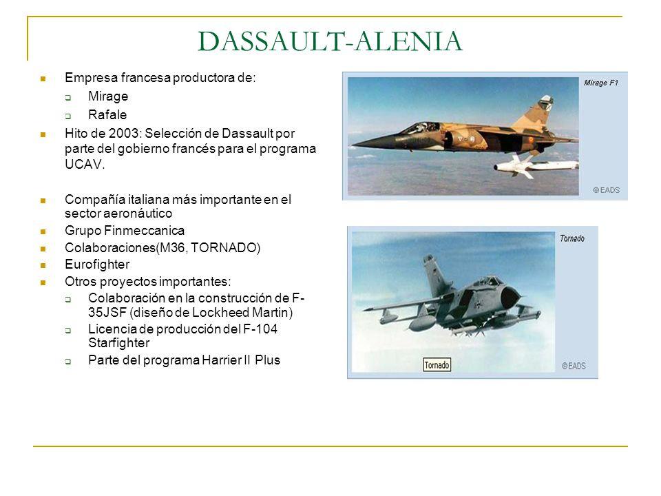 DASSAULT-ALENIA Empresa francesa productora de: Mirage Rafale
