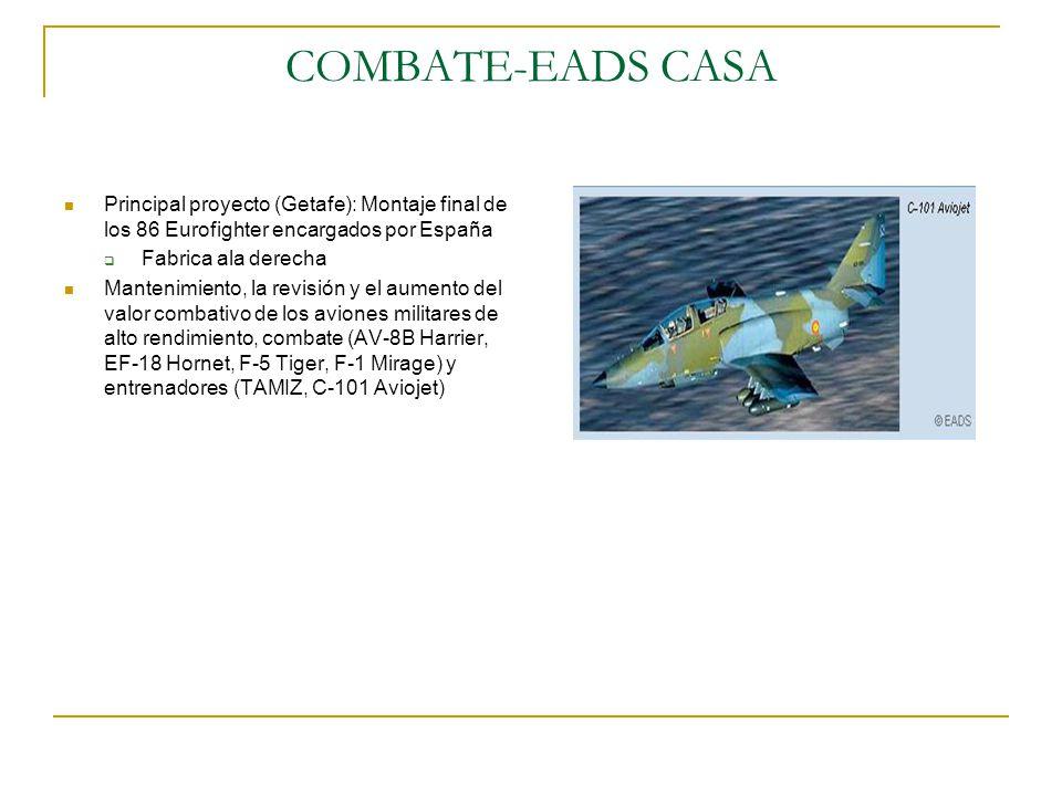 COMBATE-EADS CASA Principal proyecto (Getafe): Montaje final de los 86 Eurofighter encargados por España.