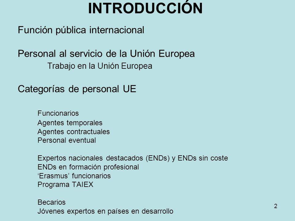INTRODUCCIÓN Función pública internacional