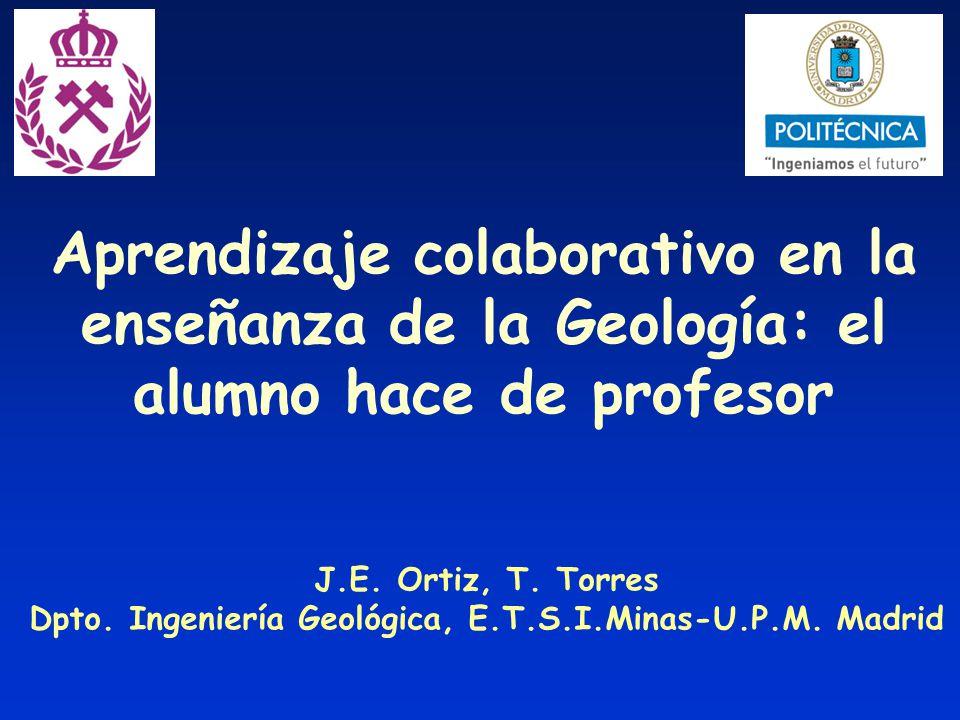 Dpto. Ingeniería Geológica, E.T.S.I.Minas-U.P.M. Madrid