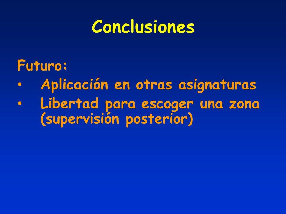 Conclusiones Futuro: Aplicación en otras asignaturas