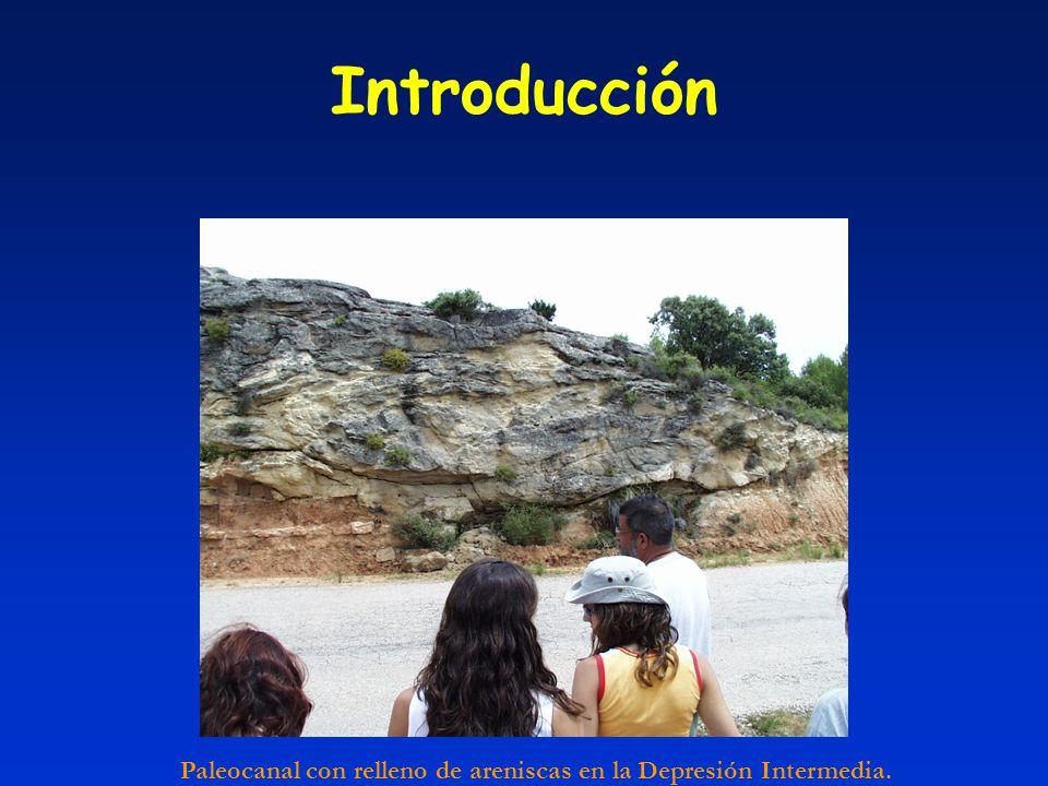 Introducción Paleocanal con relleno de areniscas en la Depresión Intermedia.
