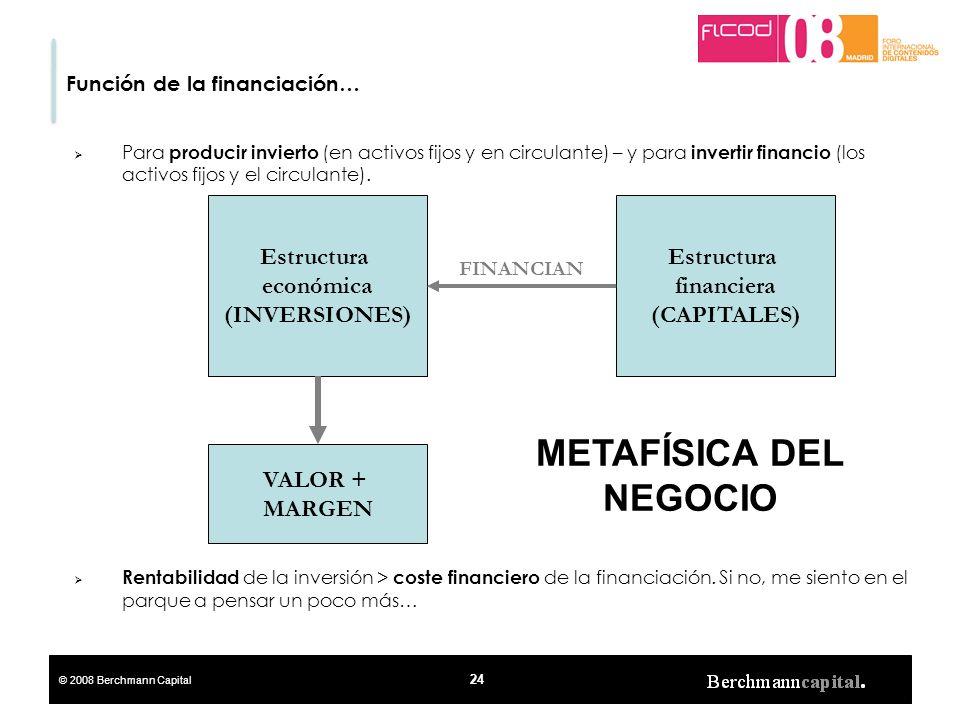 Estructura financiera METAFÍSICA DEL NEGOCIO