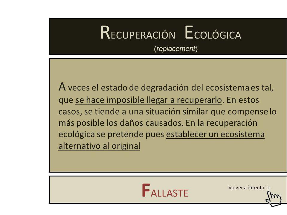 RECUPERACIÓN ECOLÓGICA