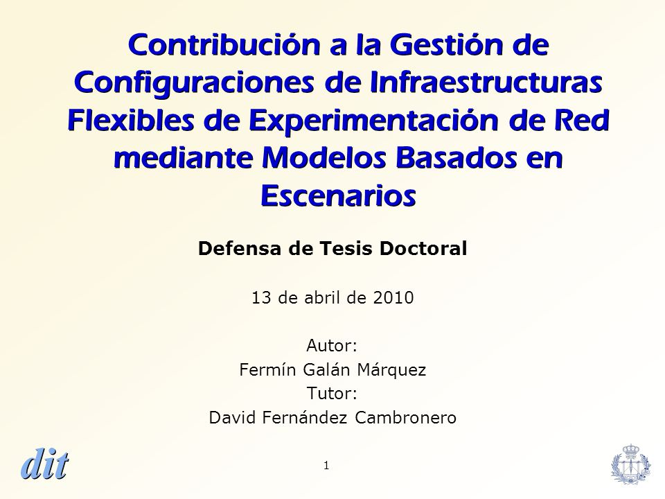 Defensa de Tesis Doctoral