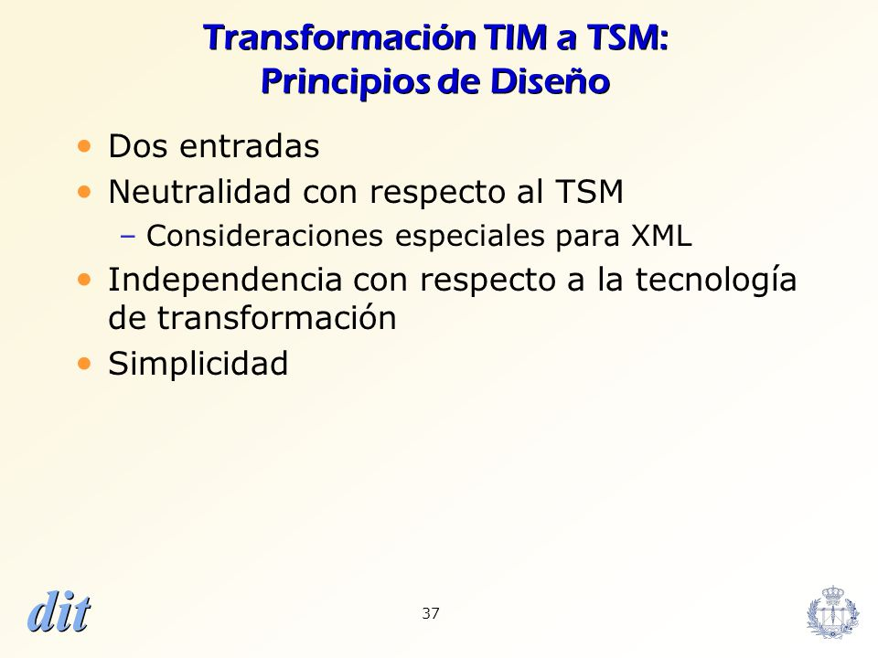 Transformación TIM a TSM: Principios de Diseño