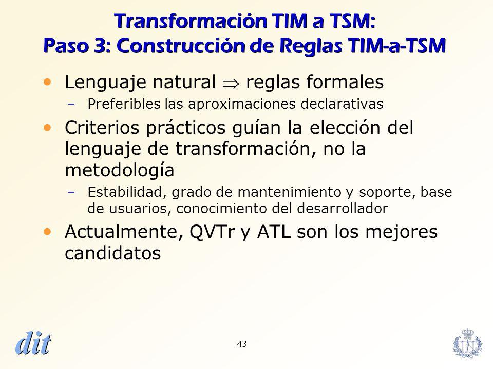 Transformación TIM a TSM: Paso 3: Construcción de Reglas TIM-a-TSM
