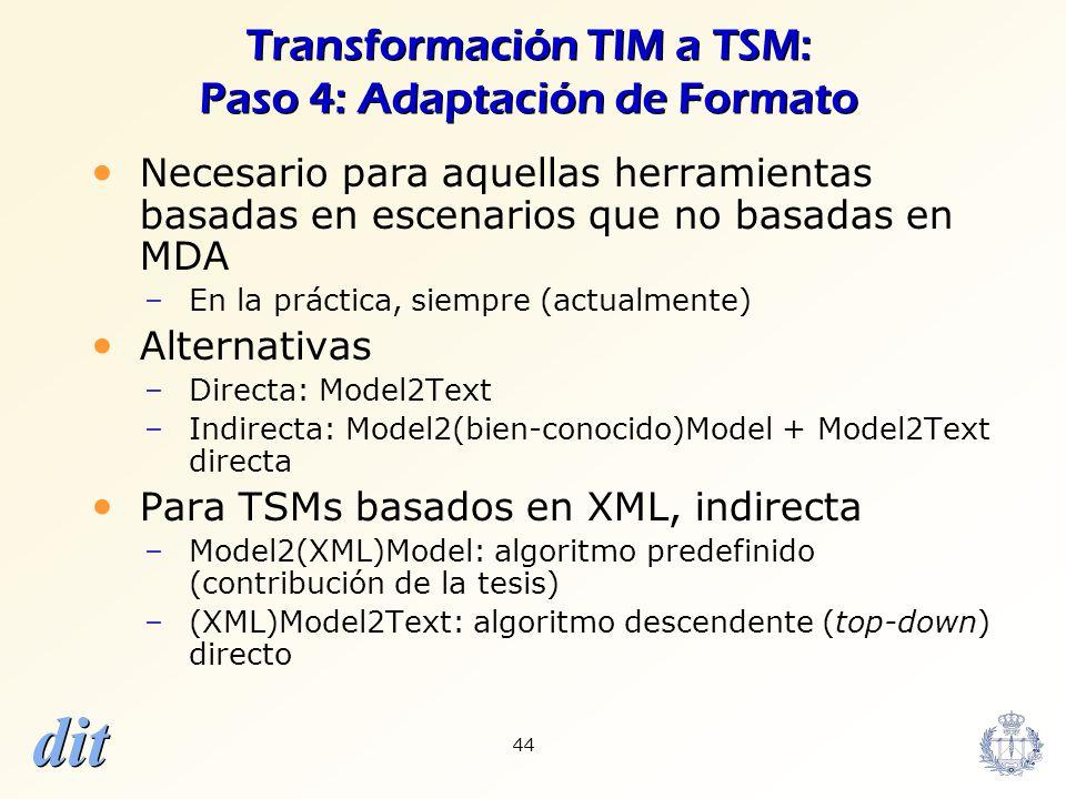Transformación TIM a TSM: Paso 4: Adaptación de Formato