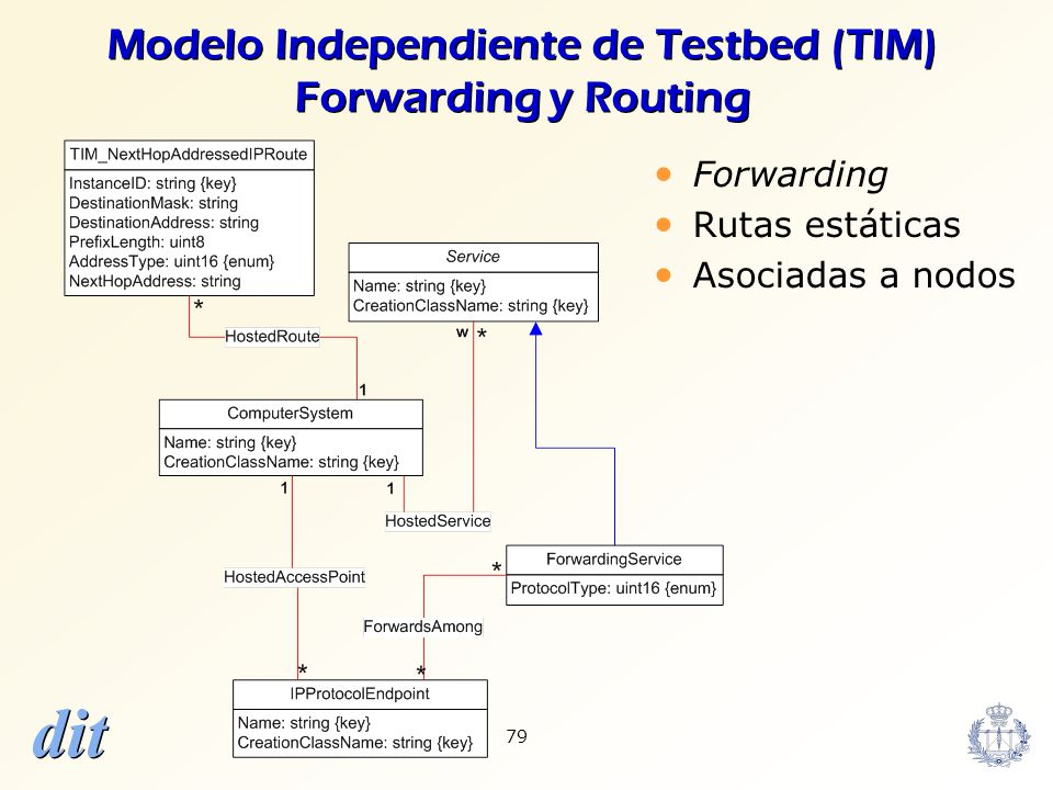 Modelo Independiente de Testbed (TIM) Forwarding y Routing