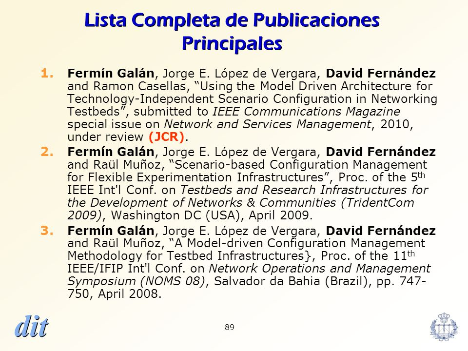 Lista Completa de Publicaciones Principales