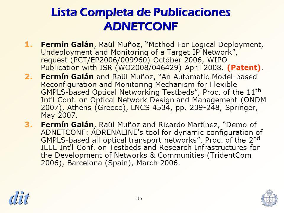Lista Completa de Publicaciones ADNETCONF