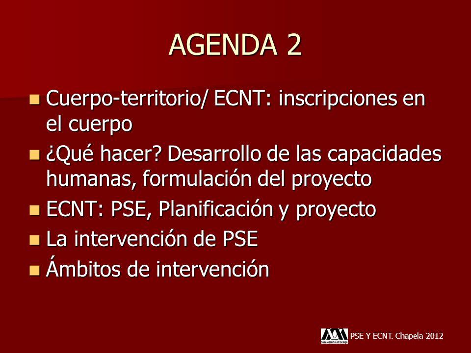 AGENDA 2 Cuerpo-territorio/ ECNT: inscripciones en el cuerpo