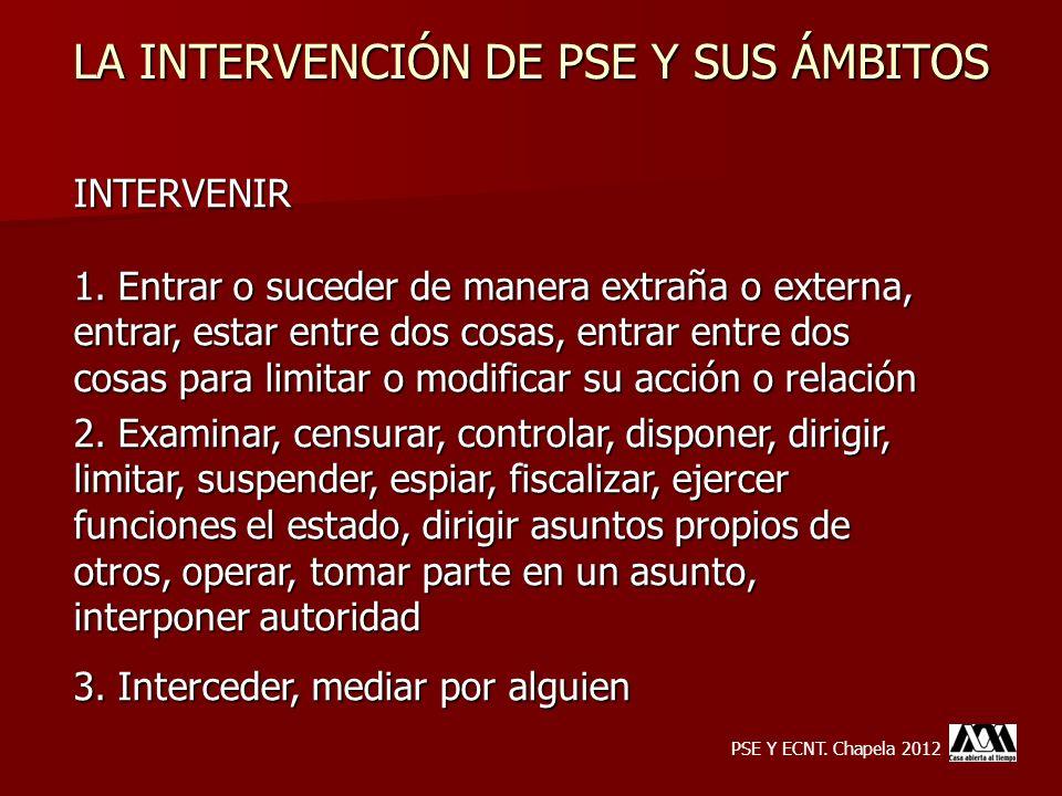LA INTERVENCIÓN DE PSE Y SUS ÁMBITOS