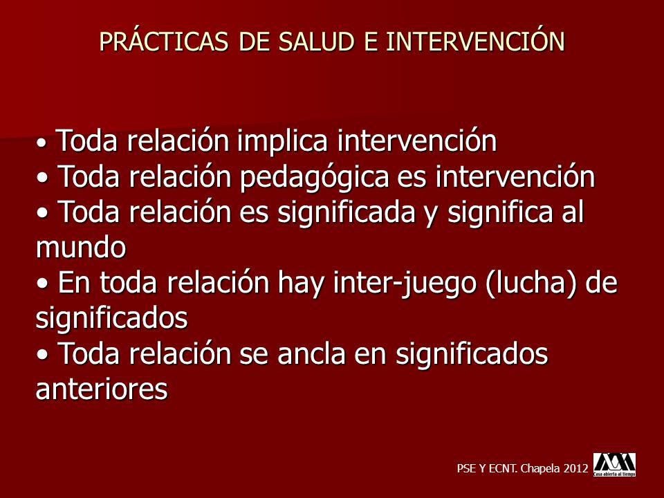 PRÁCTICAS DE SALUD E INTERVENCIÓN