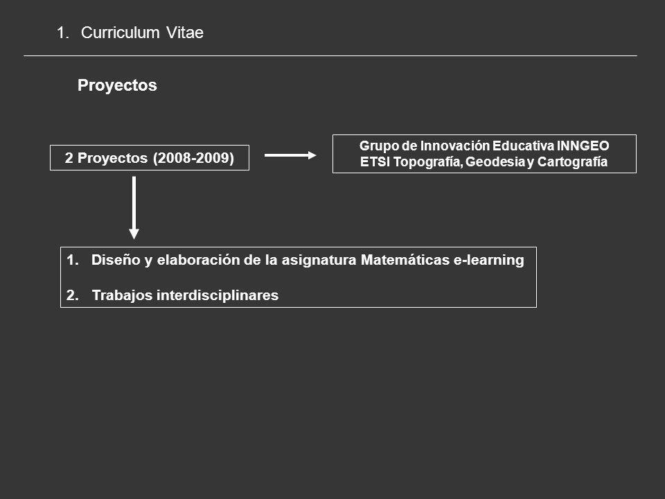 Curriculum Vitae Proyectos 2 Proyectos (2008-2009)