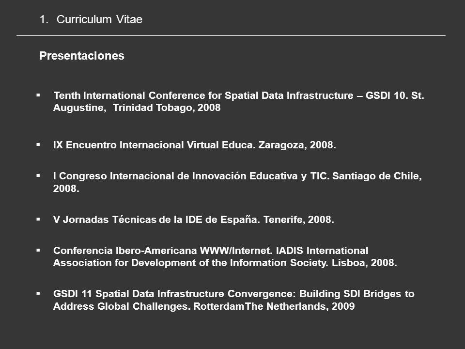 Curriculum Vitae Presentaciones