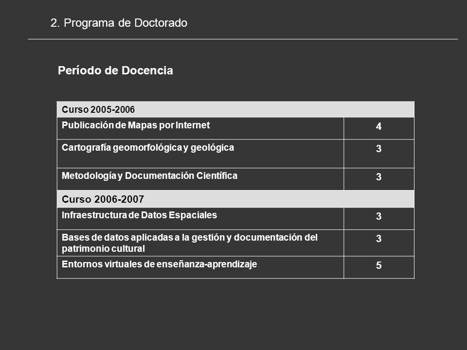 2. Programa de Doctorado Período de Docencia 4 3 Curso 2006-2007 5
