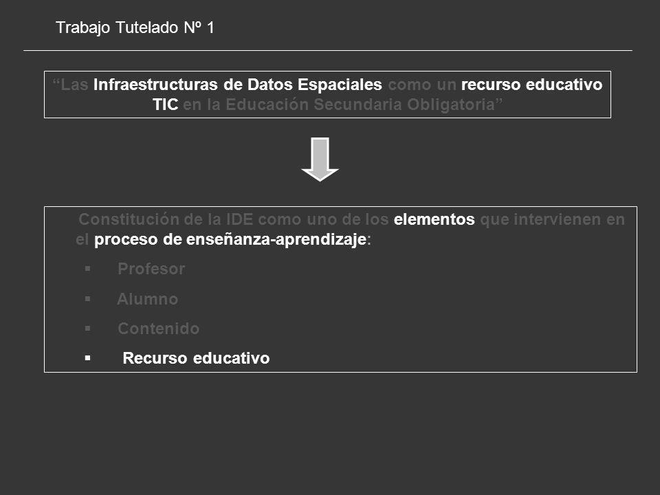 Trabajo Tutelado Nº 1 Las Infraestructuras de Datos Espaciales como un recurso educativo TIC en la Educación Secundaria Obligatoria