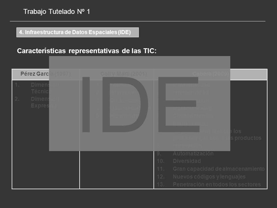 IDE Trabajo Tutelado Nº 1 Características representativas de las TIC: