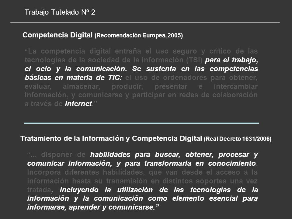 Competencia Digital (Recomendación Europea, 2005)