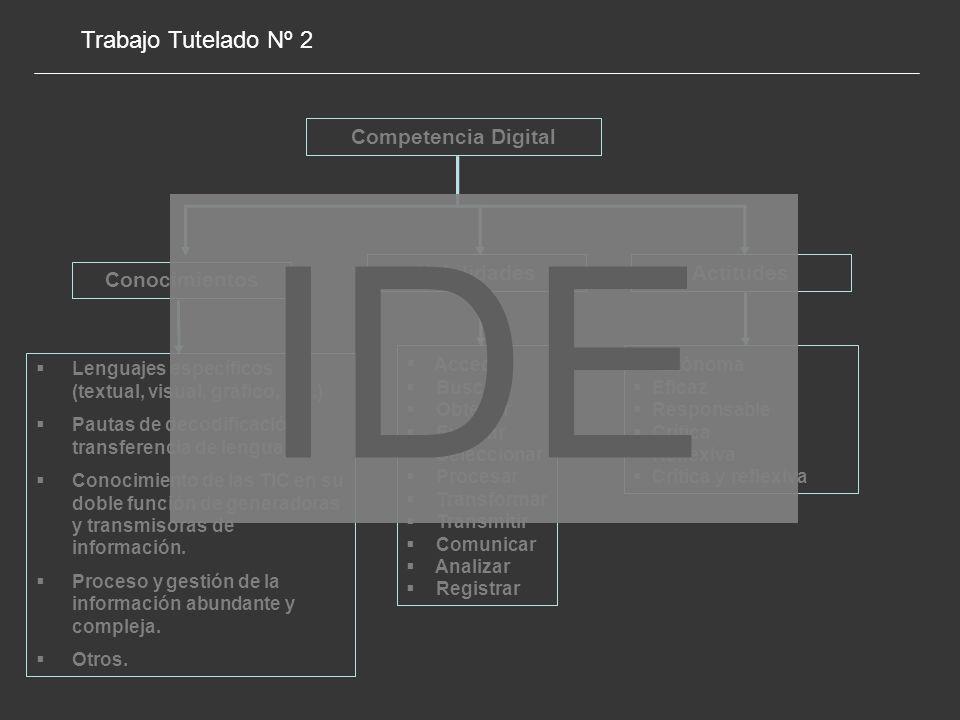IDE Trabajo Tutelado Nº 2 Competencia Digital Habilidades Actitudes