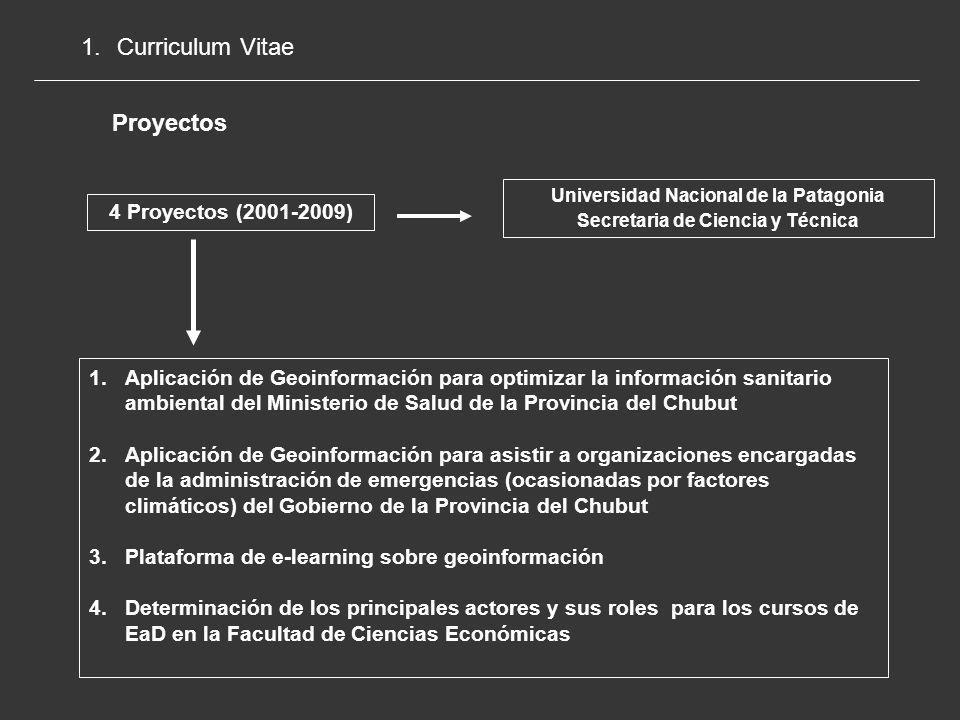 Universidad Nacional de la Patagonia Secretaria de Ciencia y Técnica
